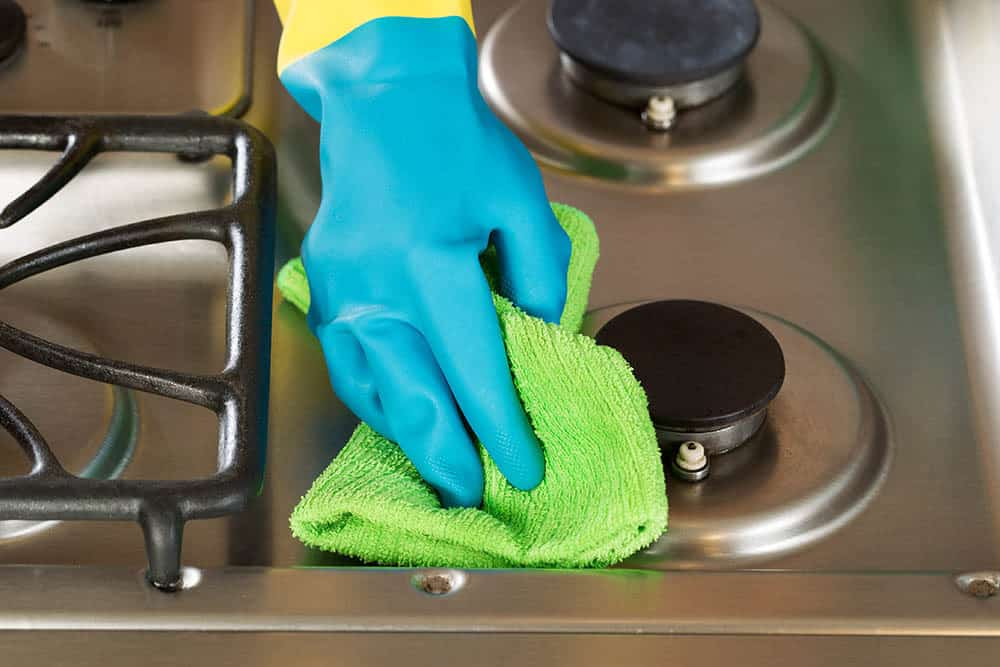 What's the best cleaning agent for burned-on grease